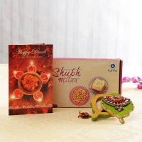 Subh Milan Snacks Box with Wooden Chopra