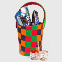 Five Imported Chocolates Bucket with Roli Chawal Container