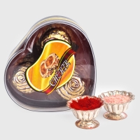 Three Cherir Chocolates with Roli Chawal Container