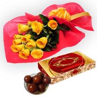 Roses with Gulab Jamun