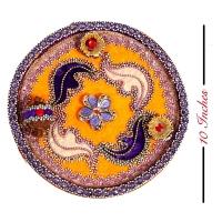 Yellow Purple Cane Thali : Bhaidooj Pooja Thali