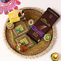 Bhai Dooj Tikka Thali with Chocolates