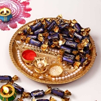 Dooj Tikka Thali & Dairy Milk Eclairs Toffees