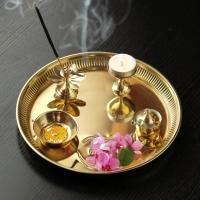 Small Om Brass Thali : Pooja Thalis